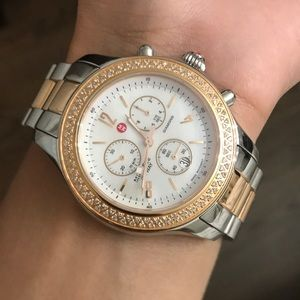Michelle Jetway limited edition diamond 41mm watch